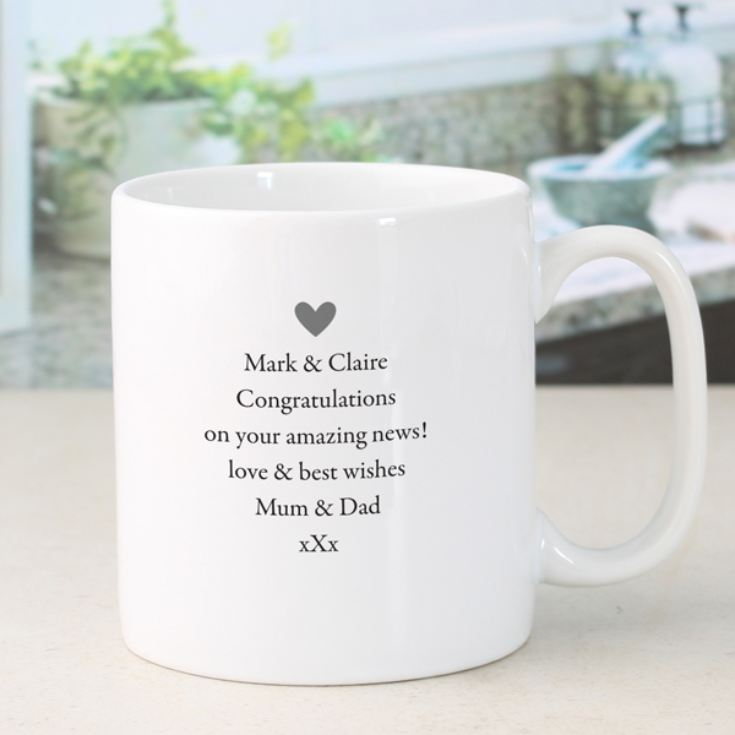 Personalised You're Engaged Pair of Mugs product image