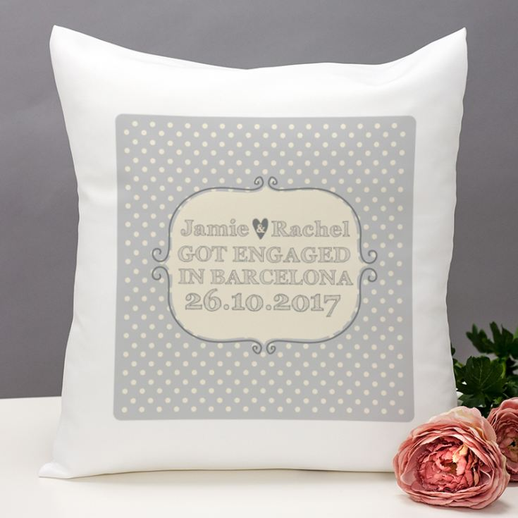 Personalised Engagement Cushion product image