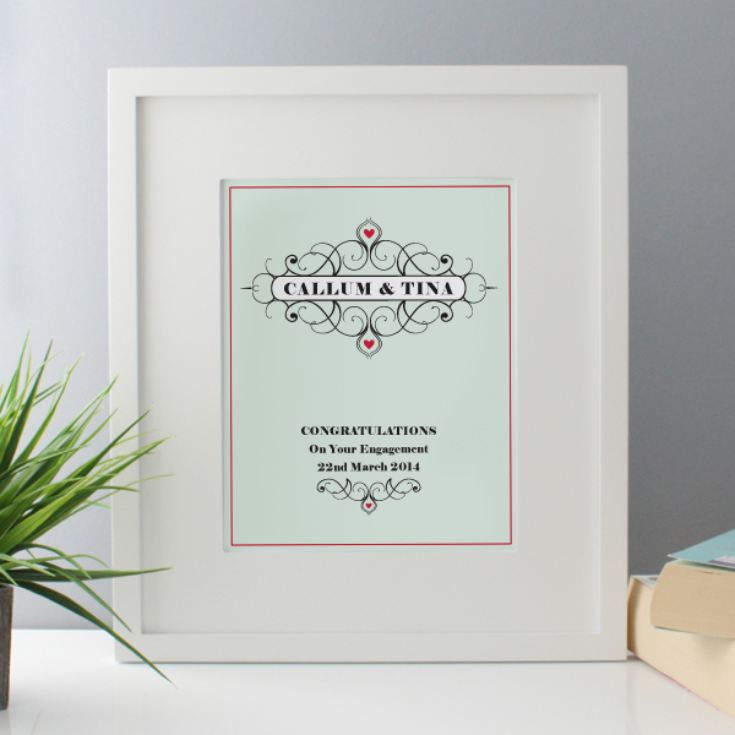 Personalised Engagement Framed Print product image
