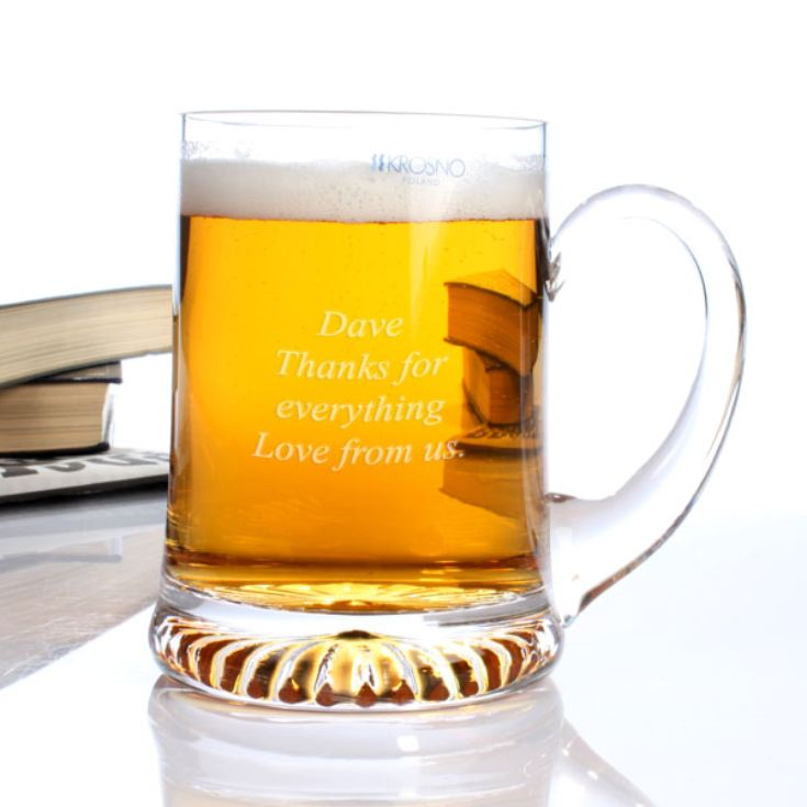 Personalised Classic Star Base Crystal Tankard product image