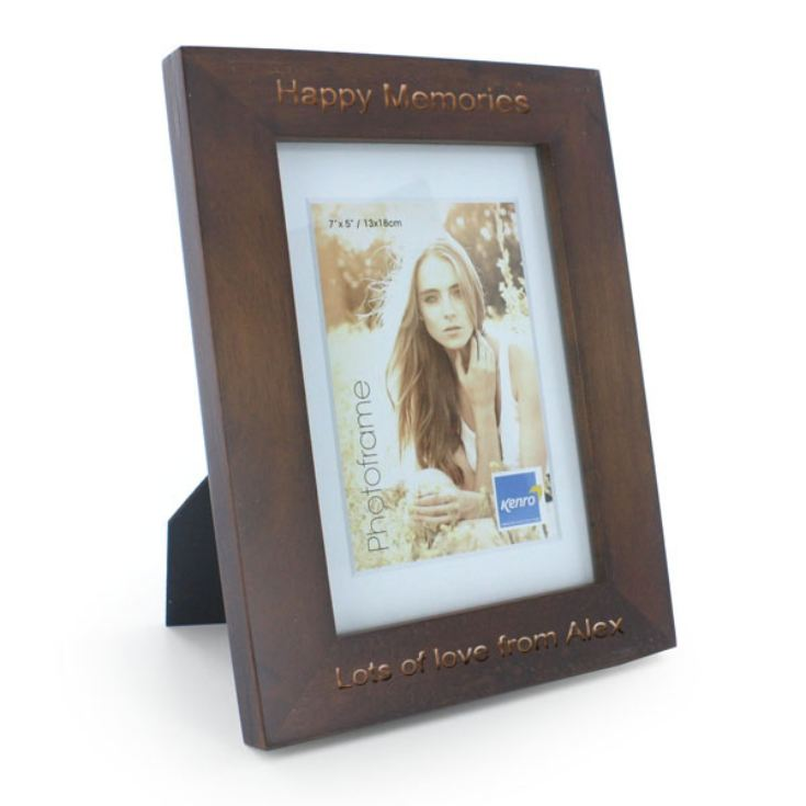 Engraved Dark Oak Wooden Photo Frame product image