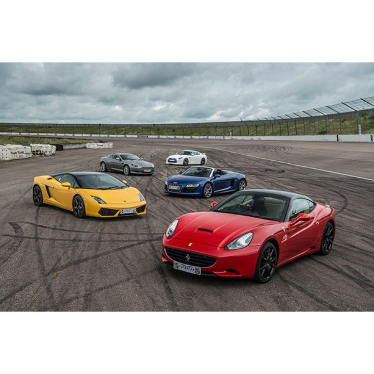 Five Supercar Thrill With Free High Speed Passenger Ride