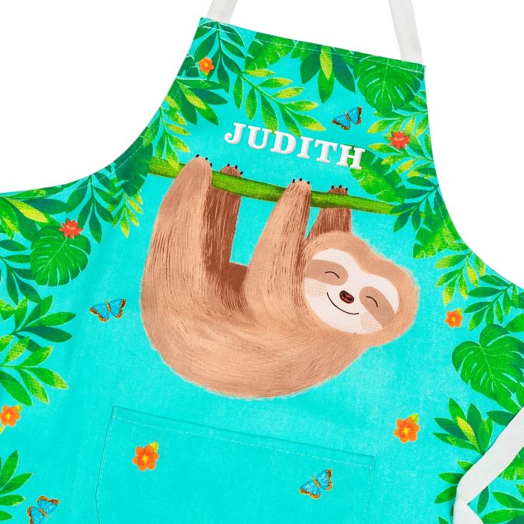 Personalised Embroidered Sloth And Friends Child's Apron product image