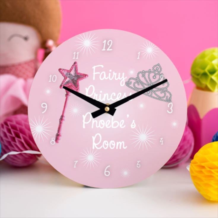 Fairy Princess Personalised Clock product image