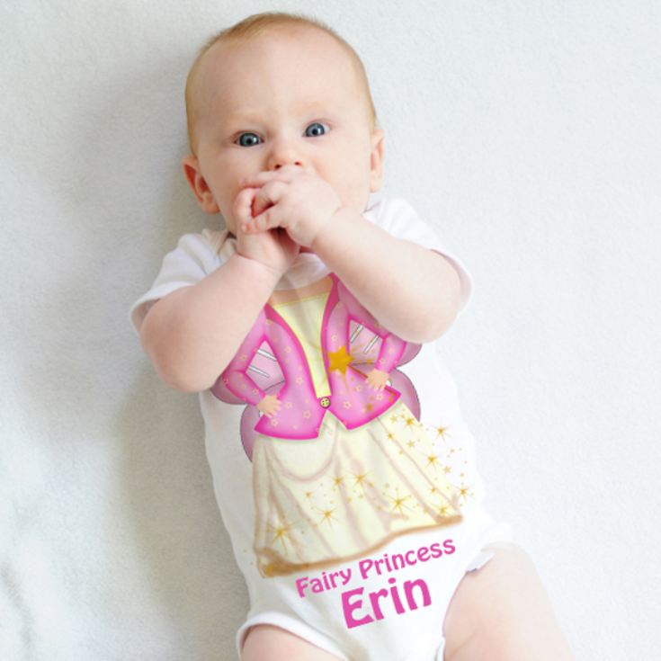 Personalised Fairy Princess Baby Grow product image