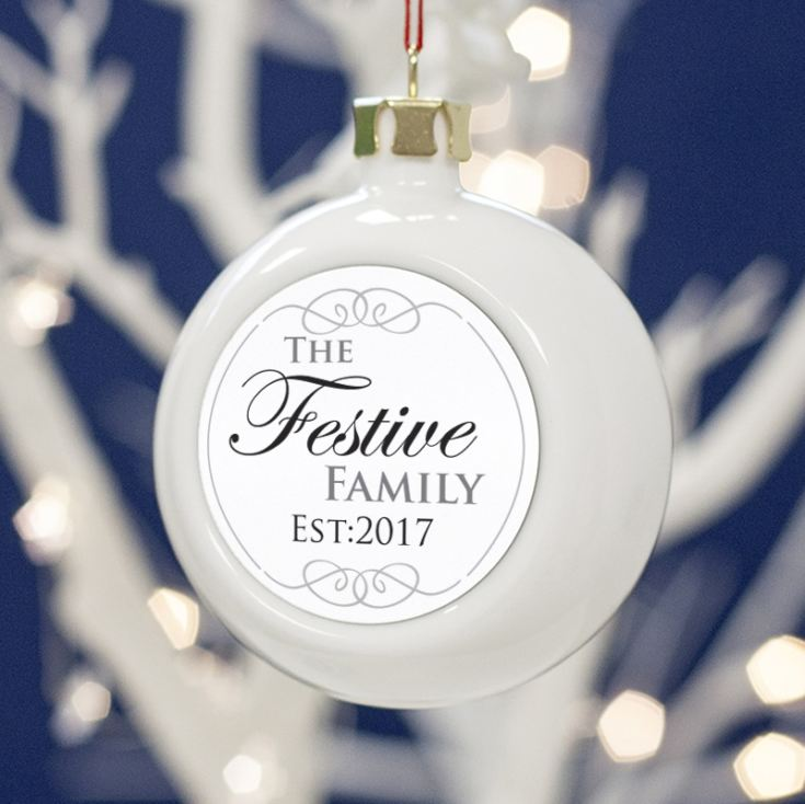 Personalised Family Christmas Bauble product image
