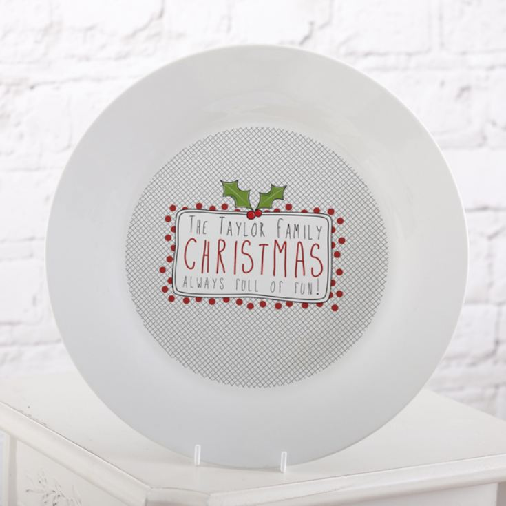 Personalised Family Christmas Plate product image