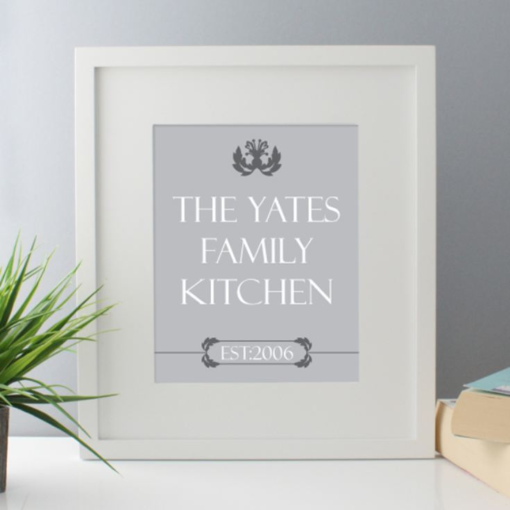 Family Kitchen Personalised Framed Print product image