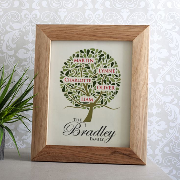 Personalised Family Tree Framed Print product image