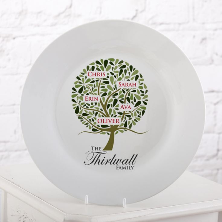 Personalised Family Tree Plate product image