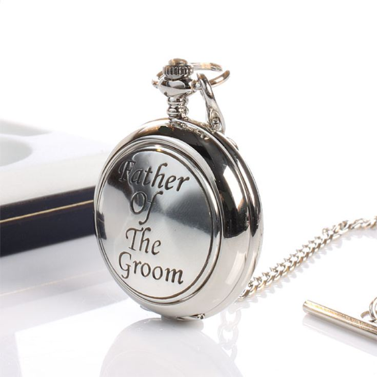 ce4520766 Father Of The Groom Pocket Watch With Personalised Gift Box product image