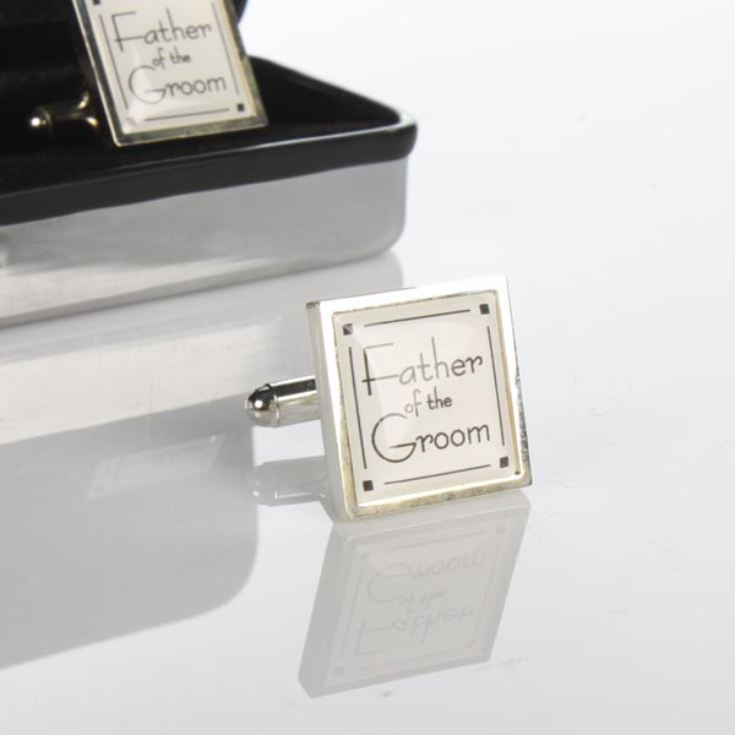 Personalised Father of the Groom Cufflinks product image