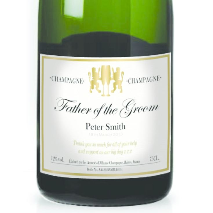 Father of the Groom Personalised Champagne product image