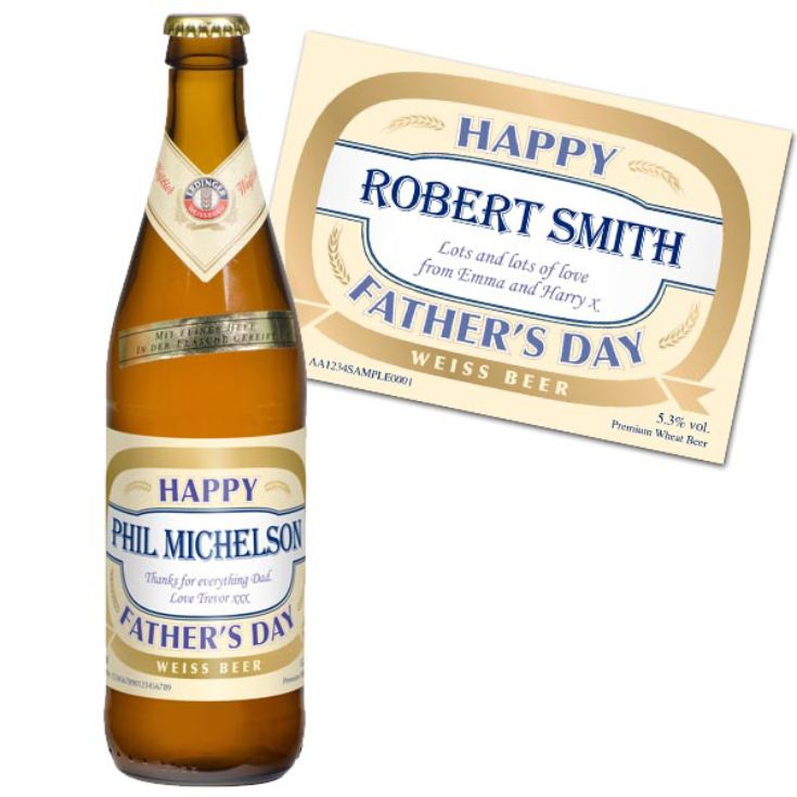 Fathers Day Personalised Bottle of Wheat Beer product image