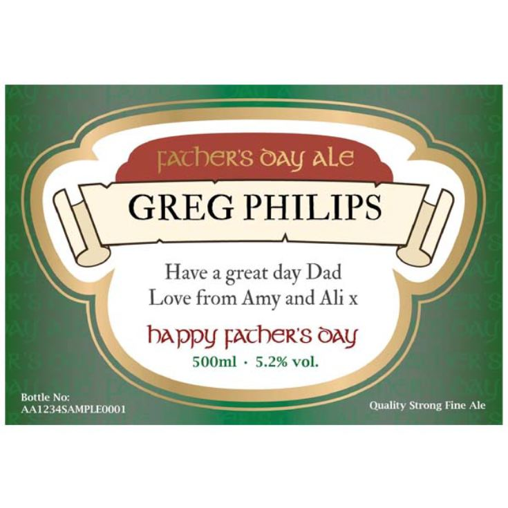 Father's Day Personalised Bottle of Beer product image