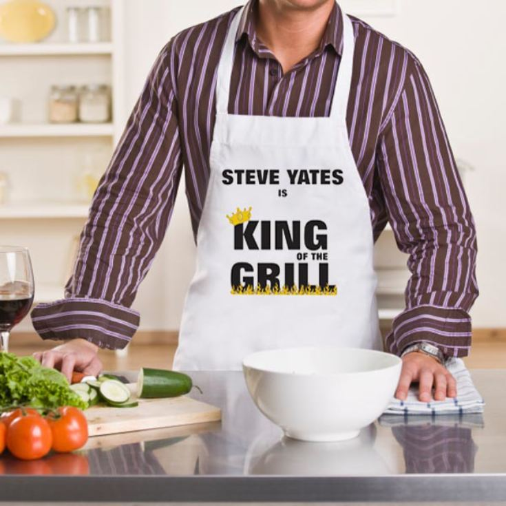 Personalised King of the Grill BBQ Apron product image