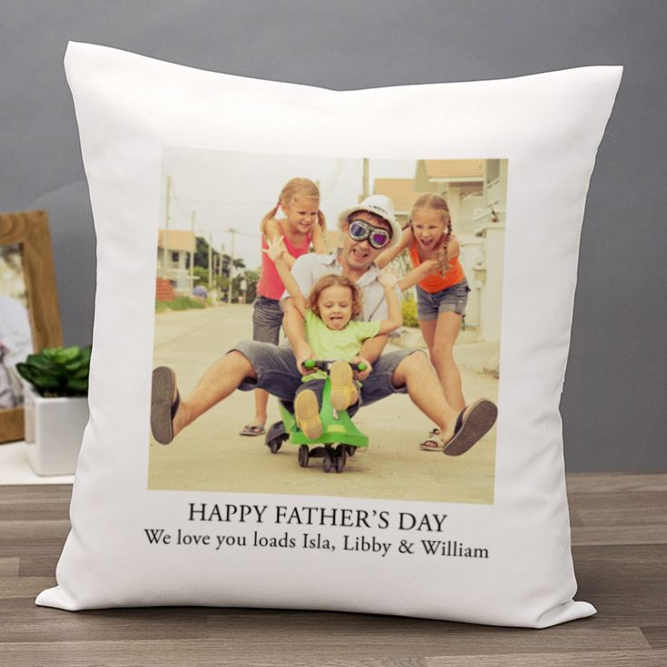 Personalised Happy Father's Day Photo Cushion product image