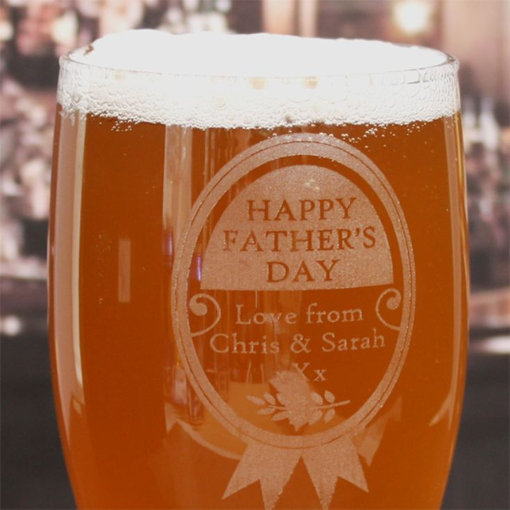 Personalised Father's Day Pint Glass product image