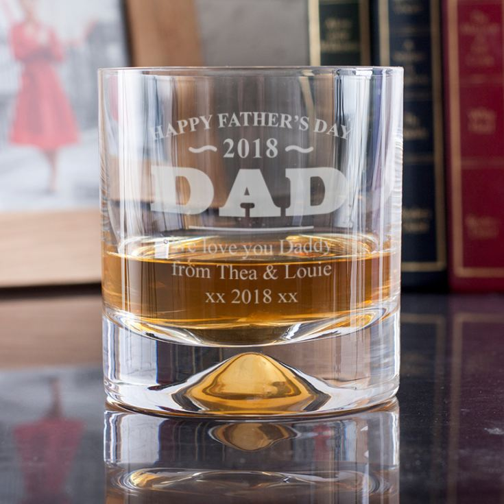Personalised Father's Day Whisky Glass product image