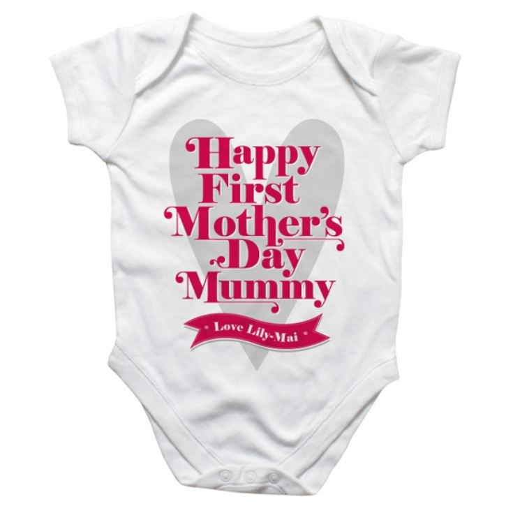 Personalised First Mother's Day Baby Grow product image