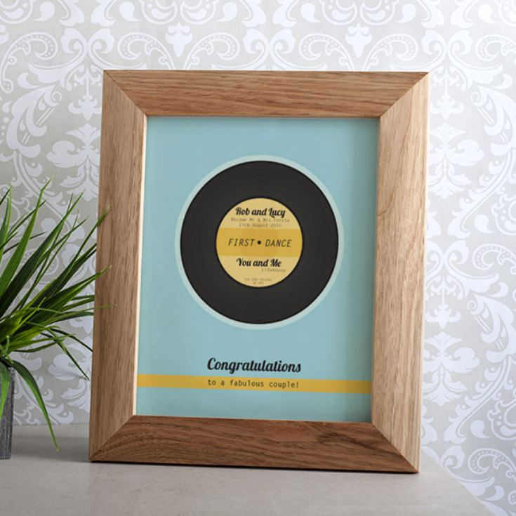 Wedding Gift Record Book: Personalised Our First Dance Framed Print