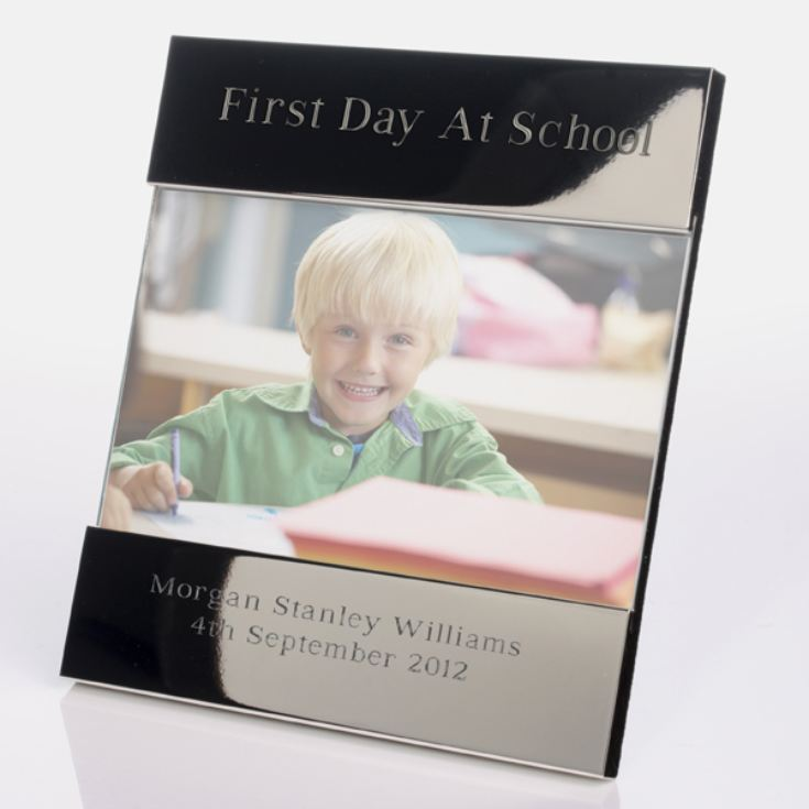 Engraved First Day At School Photo Frame product image
