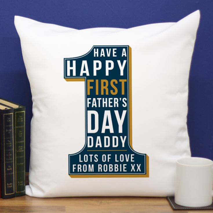 Personalised First Father's Day Number 1 Cushion product image