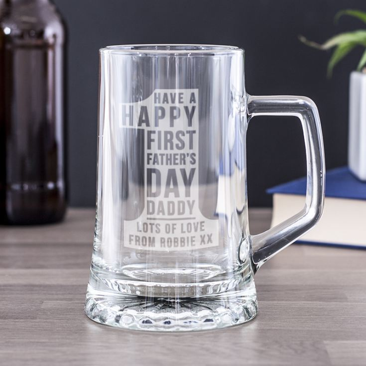 Personalised First Father's Day No 1 Pint Tankard product image