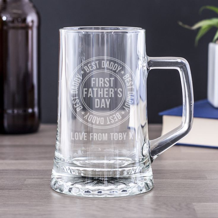 Engraved Best Daddy 1st Father's Day Pint Tankard product image