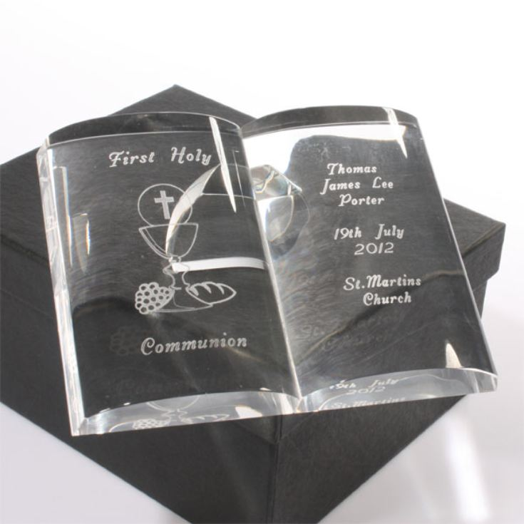 Personalised First Holy Communion Crystal Bible product image