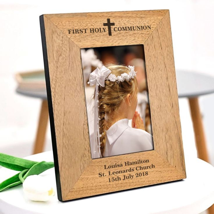Personalised First Holy Communion Wooden Frame product image