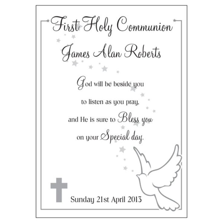 First Holy Communion Personalised Message Plaque product image