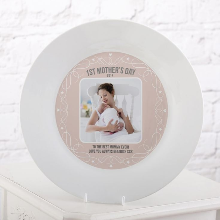 Personalised First Mother's Day Photo Plate product image