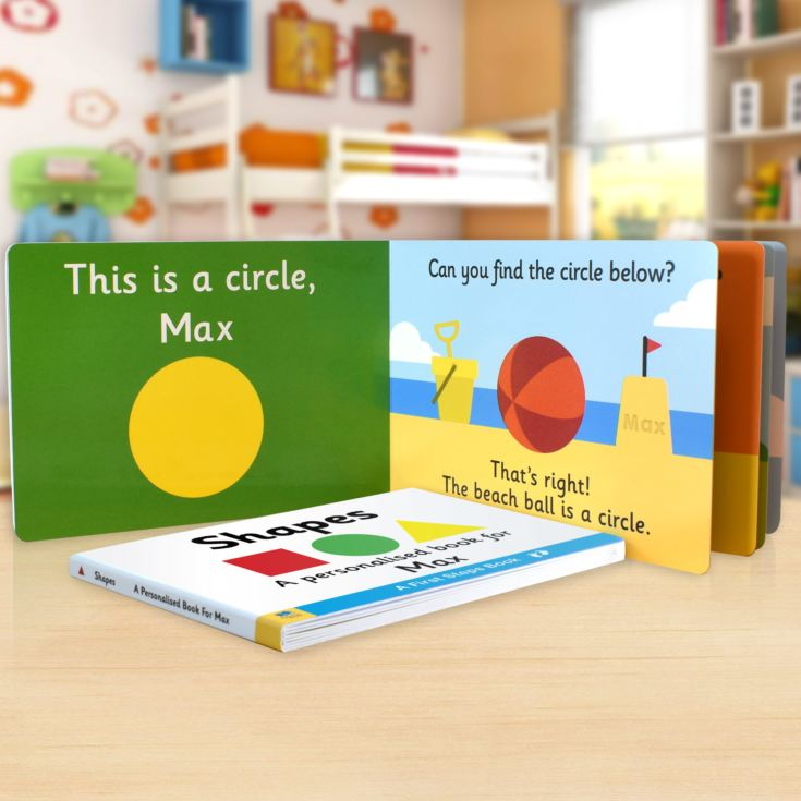 First Steps Shapes Personalised Board Book product image