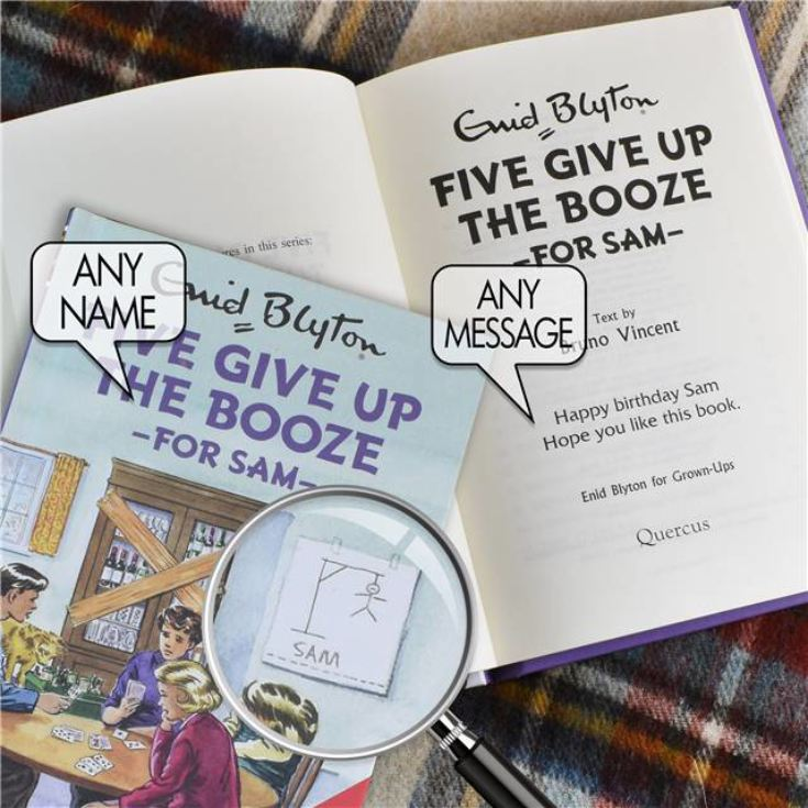 Personalised Enid Blyton Book - Five Give Up The Booze product image