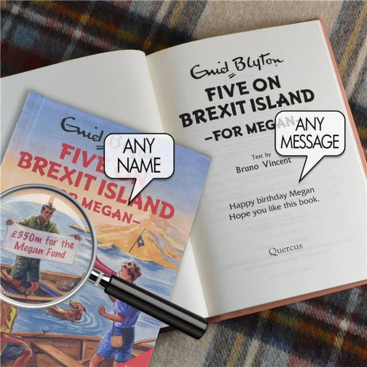 Personalised Enid Blyton Book - Five On Brexit Island product image