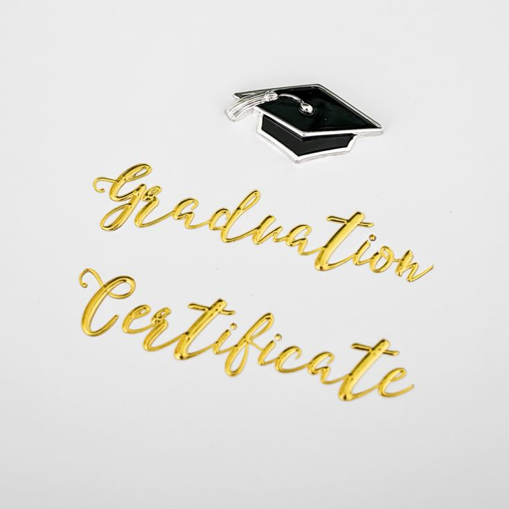 Personalised Celebrations Graduation Certificate Holder With Cap Icon product image