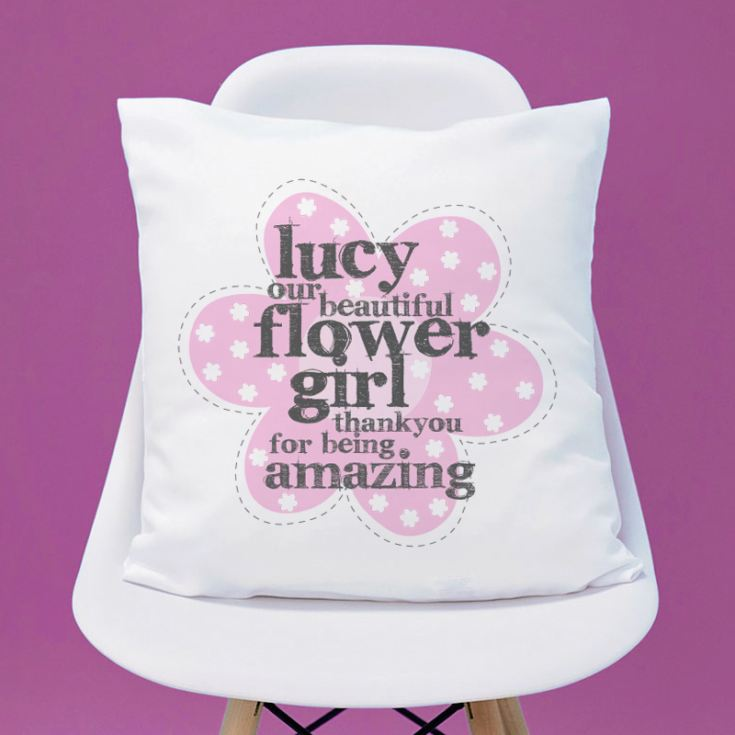 Personalised Flower Girl Cushion product image