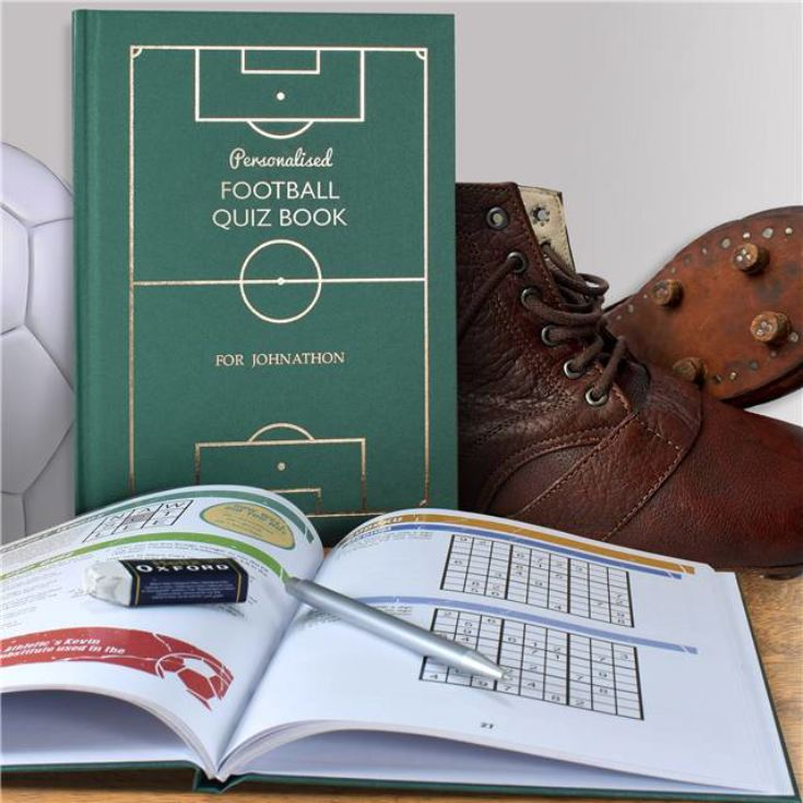 Personalised Football Quiz Book product image