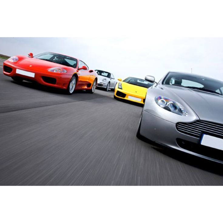 Four Supercar Driving Blast with Passenger Ride product image