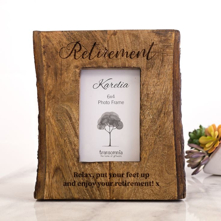 Personalised Slice Of Natural Wood 6 x 4 Photo Frame product image