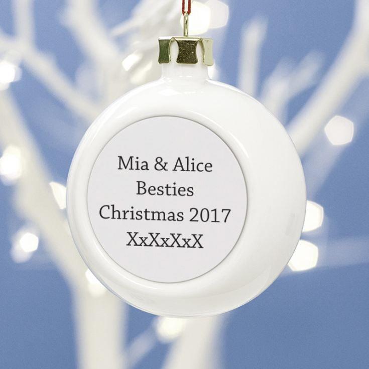 Personalised Friends Photo Bauble product image