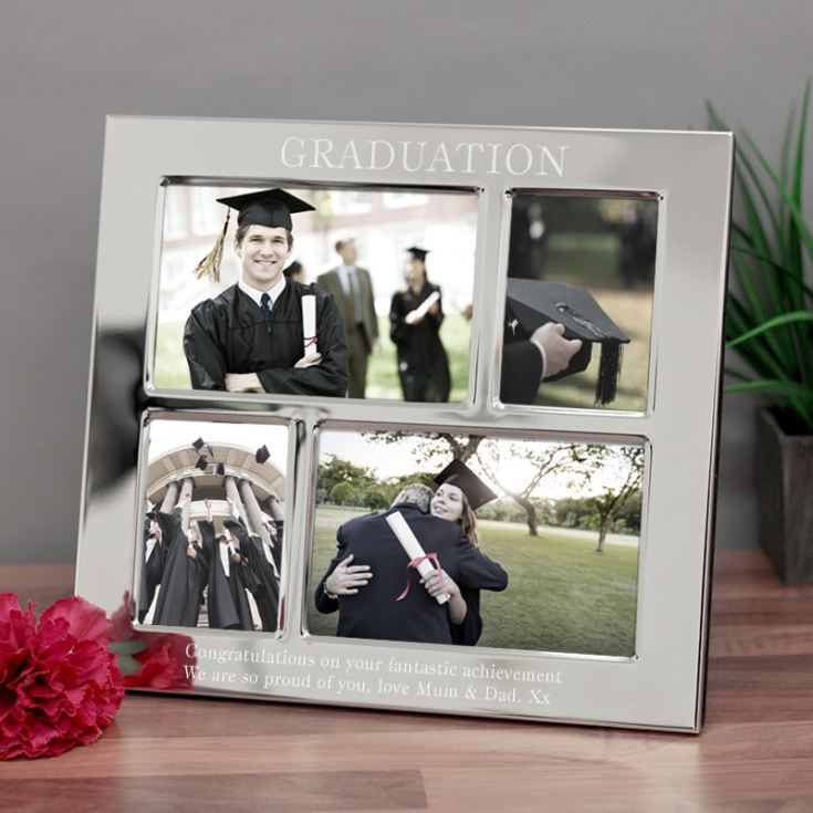 Graduation Engraved Collage Photo Frame product image