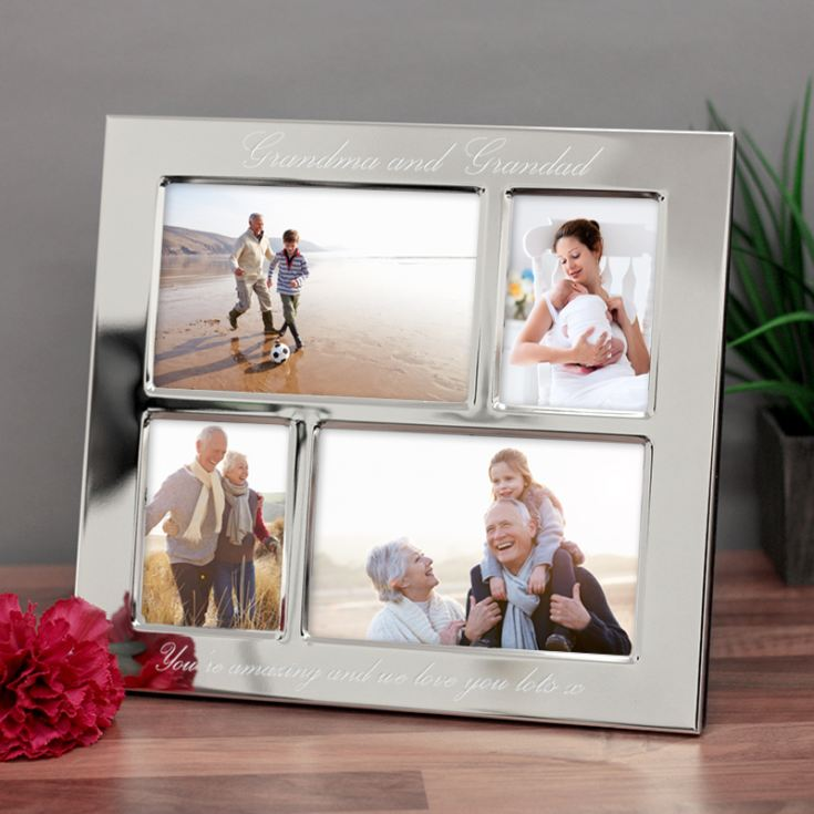 Personalised Grandparents Engraved Collage Photo Frame product image