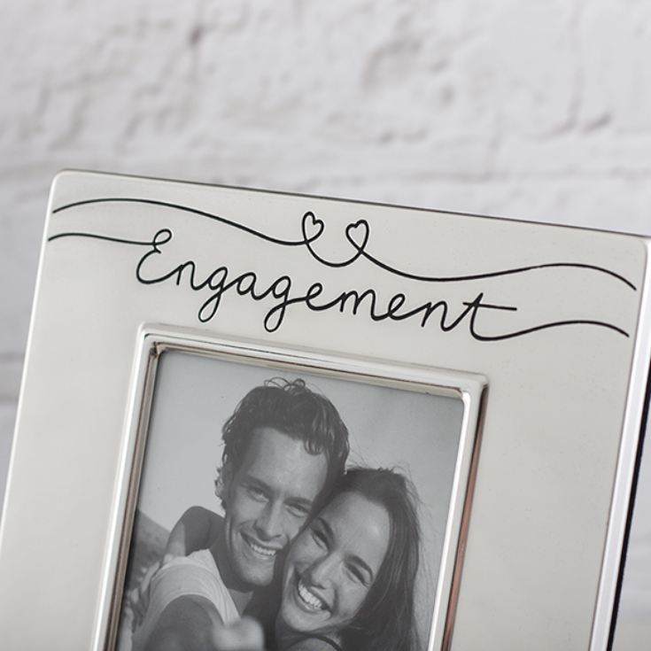 Engagement Love Is Satin Silver Photo Frame product image