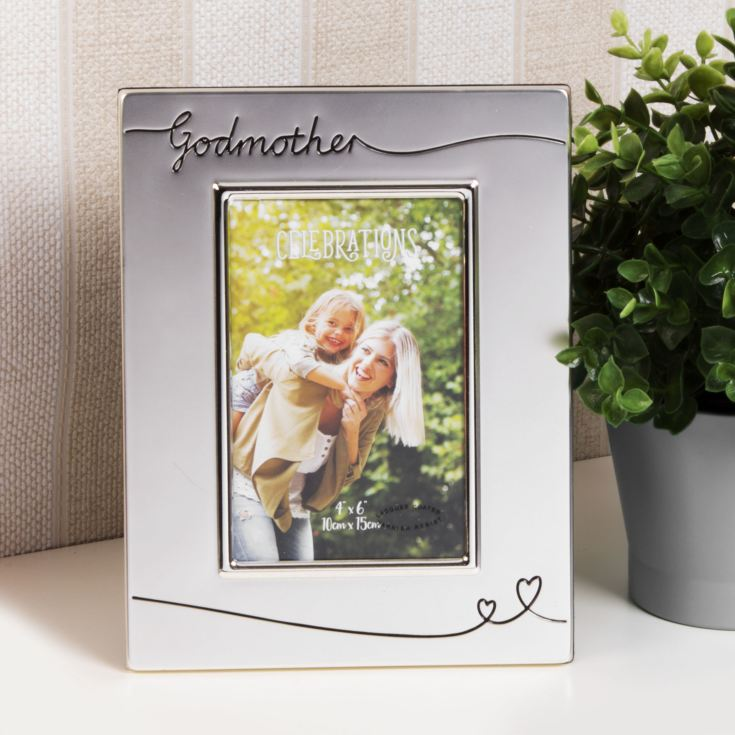 Silver Plated Godmother Photo Frame product image