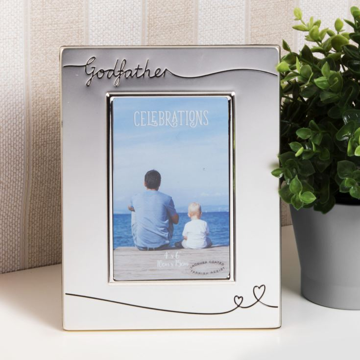 Silver Plated Godfather Photo Frame product image