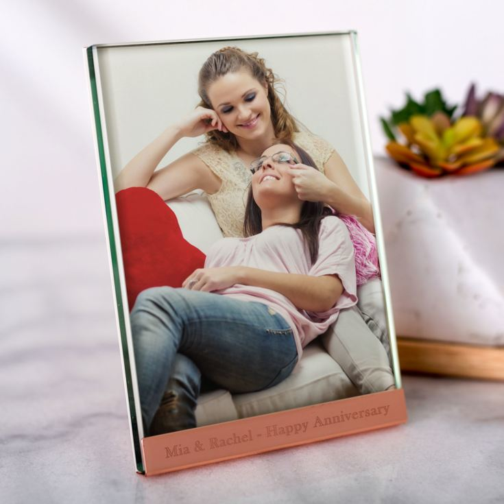 Personalised Copper Plated & Glass Photo Frame 5 x 7 product image