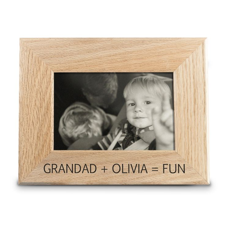 Fun with Grandad Engraved Wooden Photo Frame product image