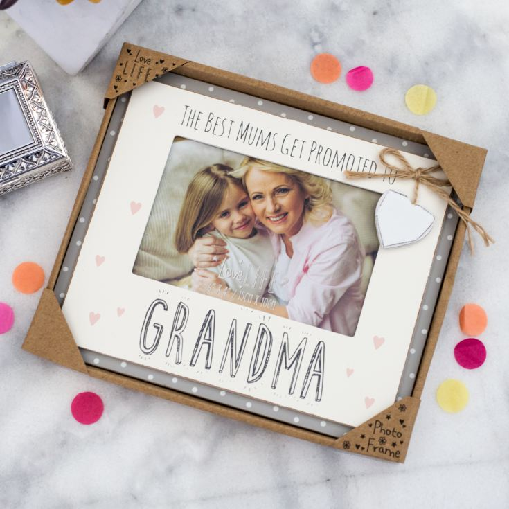 The Best Mums Get Promoted To Grandma Photo Frame product image
